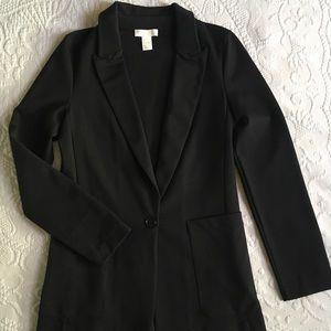 Nine to Nine Black Jersey Blazer